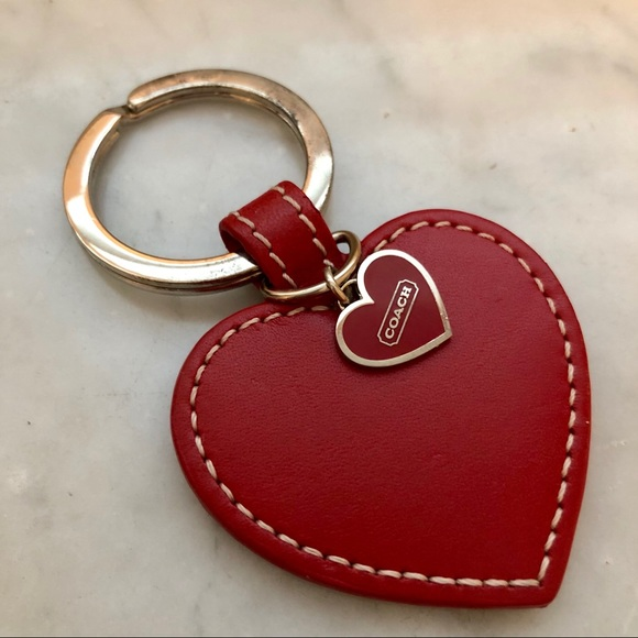 Coach Red Heart Keychain